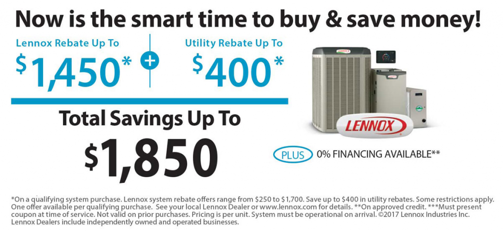 Central-Air-Conditioning-Lennox-Rebate-Tragar-Home-Services-April-2019