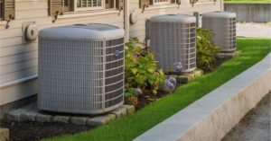 HVAC system spacing clearance